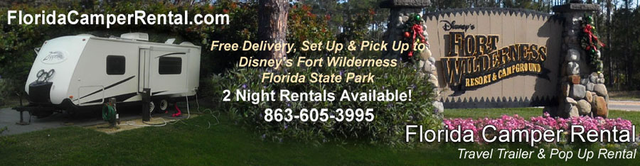 Fort Wilderness Camper Rental